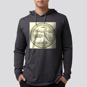 Delaware Quarter 2015 Basic Mens Hooded Shirt